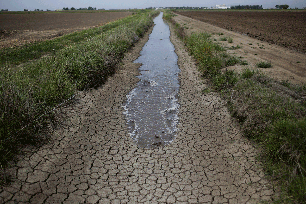 California drought running water